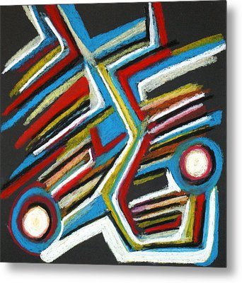 Abstract 3 Metal Print by Sandra Conceicao