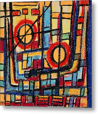 Abstract 53 Metal Print by Sandra Conceicao