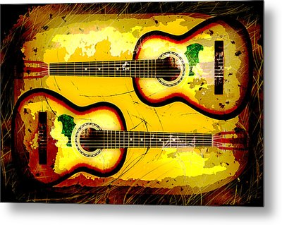 Abstract Acoustic Metal Print by David G Paul