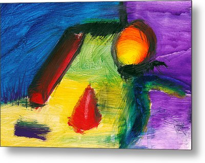 Abstract - Acrylic - Primitives Metal Print by Mike Savad