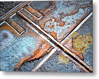 Abstract Among Us Metal Print by Gwyn Newcombe