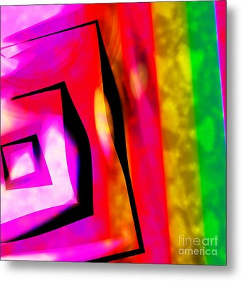 Abstract Angles And Lines Metal Print