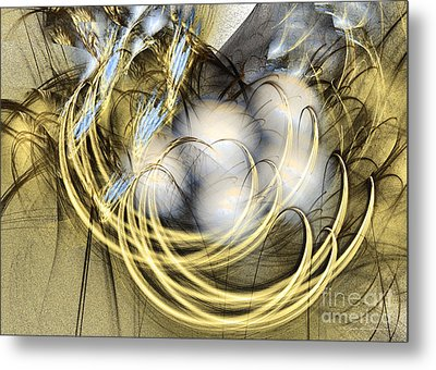 Abstract Art - Blue Lullaby Metal Print by Abstract art prints by Sipo