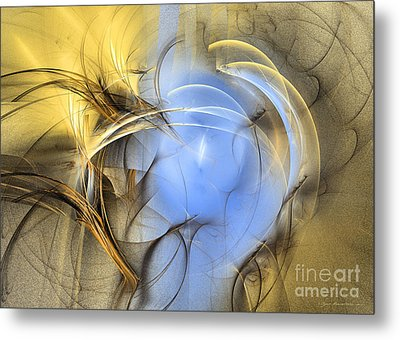 Abstract Art - Eden Metal Print by Abstract art prints by Sipo