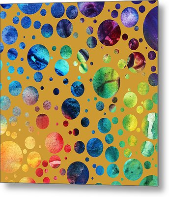 Abstract Art Digital Pixelated Painting Image Of Beauty Of Color By Madart Metal Print by Megan Duncanson