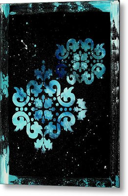 Abstract Art Original Decorative Painting Mysterious By Madart Metal Print by Megan Duncanson