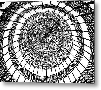 Abstract Bamboo Construction Metal Print by Yali Shi