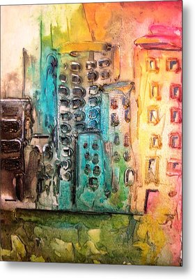 Abstract Cityscape Metal Print