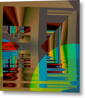 Abstract Colors Metal Print by Mario Carini