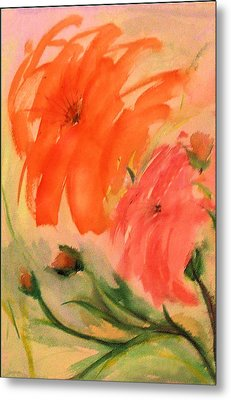 Abstract Dahlia's Metal Print by Alethea McKee
