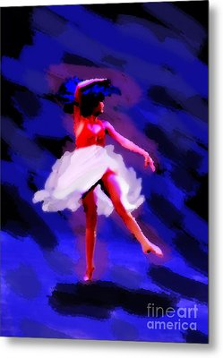 Abstract Dancer Metal Print by Val Armstrong