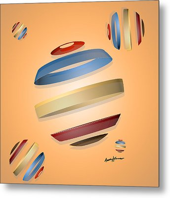 Abstract Design 9 Metal Print by Anthony Caruso