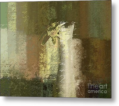 Abstract Floral 04v2g Metal Print by Variance Collections