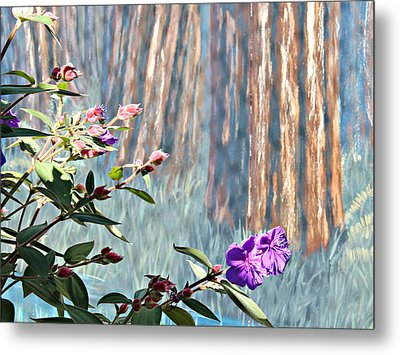 Metal Print featuring the photograph Abstract Floral by Jo Sheehan