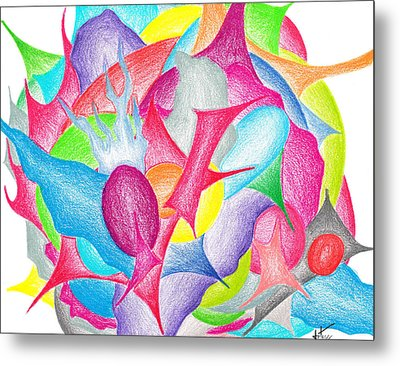 Abstract Flower Metal Print by Jera Sky