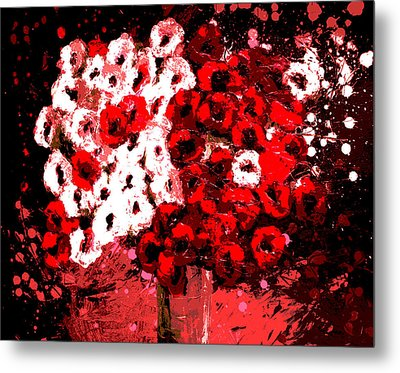 Abstract Flowers By Shawna Erback Metal Print by Shawna Erback