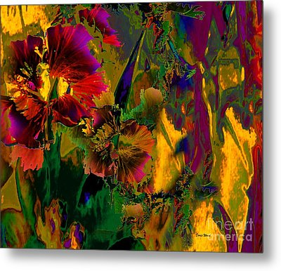 Abstract Flowers Metal Print by Doris Wood
