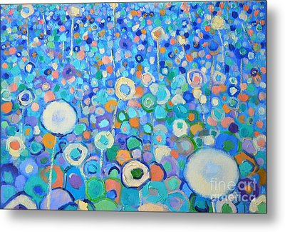 Abstract Flowers Field Metal Print by Ana Maria Edulescu