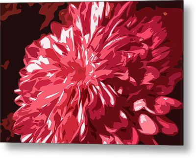 Abstract Flowers Metal Print by Sumit Mehndiratta