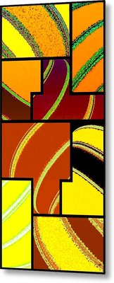 Abstract Fusion 92 Metal Print by Will Borden