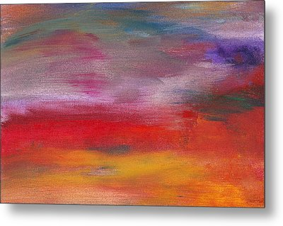 Abstract - Guash And Acrylic - Pleasant Dreams Metal Print by Mike Savad