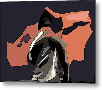 Abstract He Comes For Me Metal Print by David Dehner