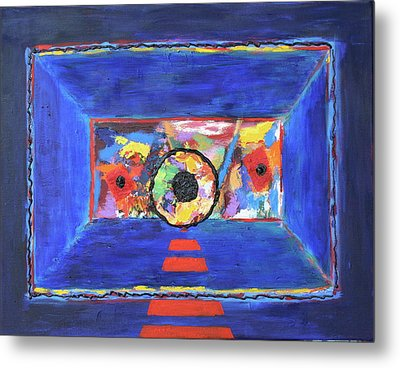 Metal Print featuring the painting Abstract Interior by Karin Eisermann