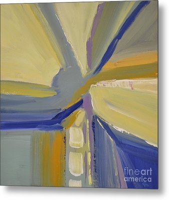 Abstract Intersection Metal Print by Barbara Tibbets