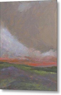 Abstract Landscape - Scarlet Light Metal Print by Kathleen Grace
