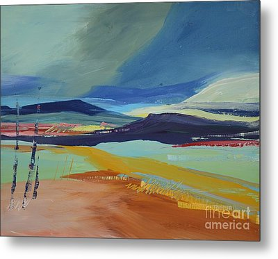 Abstract Landscape No.1 Metal Print by Barbara Tibbets