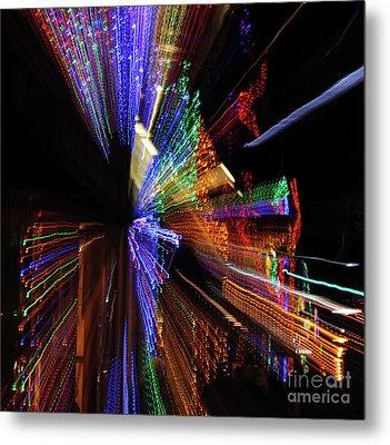 Abstract Lights Metal Print