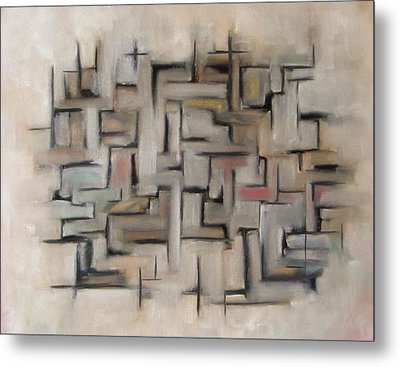 Abstract Line I Metal Print