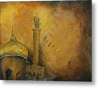 Abstract Mosque Metal Print by Salwa  Najm