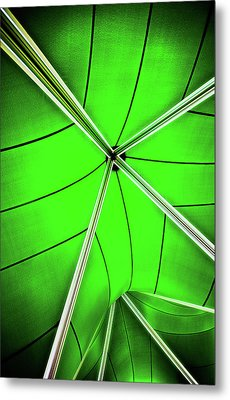 Abstract Of Green Metal Print by Meirion Matthias