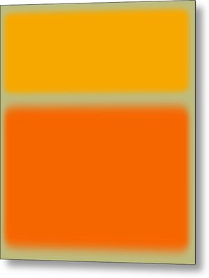 Abstract Orange And Yellow Metal Print