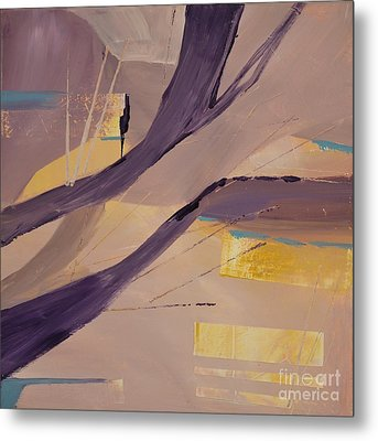 Abstract Orchard Metal Print by Barbara Tibbets