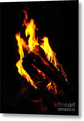 Abstract Phoenix Fire Metal Print