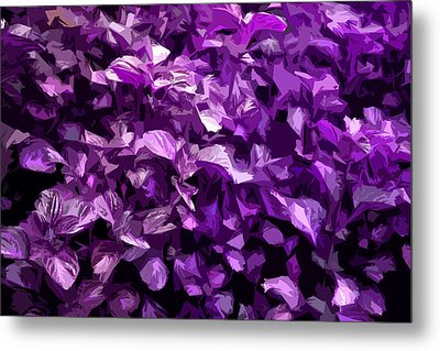 Metal Print featuring the digital art Abstract Purple by Serene Maisey