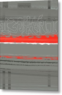 Abstract Red 3 Metal Print