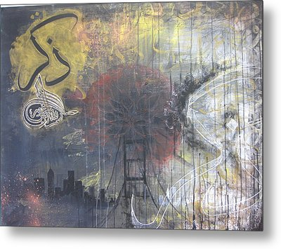Abstract Remeber Night And Day Metal Print by Salwa  Najm