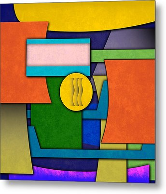 Abstract Shapes Color One Metal Print by Gary Grayson