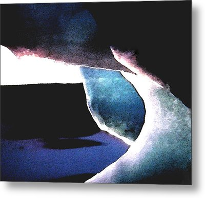 Abstract Snow Ice Metal Print by Colette V Hera  Guggenheim