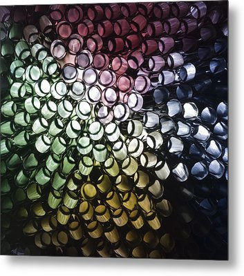 Metal Print featuring the photograph Abstract Straws by Steve Purnell