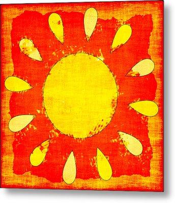 Abstract Sun Metal Print by David G Paul