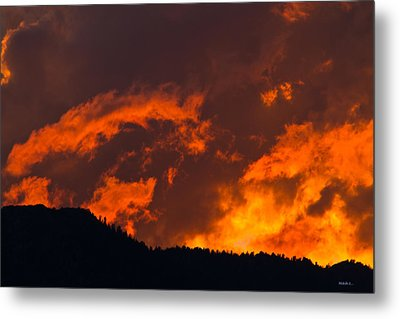 Abstract Sunset Metal Print by Mitch Shindelbower