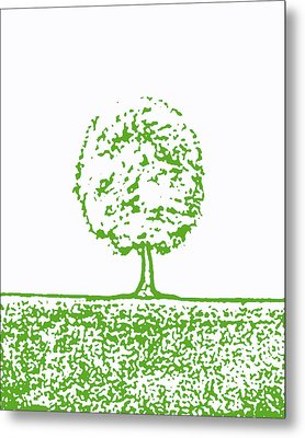 Abstract Tree By Shawna Erback Metal Print by Shawna Erback