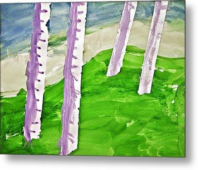 Abstract Trees Metal Print by Susan Leggett