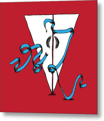 Abstract 'v' Metal Print by Michaela Mitchell