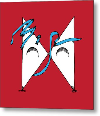 Abstract 'x' Metal Print by Michaela Mitchell