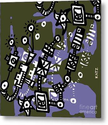 Abstraction Two Metal Print by Daniel Katz